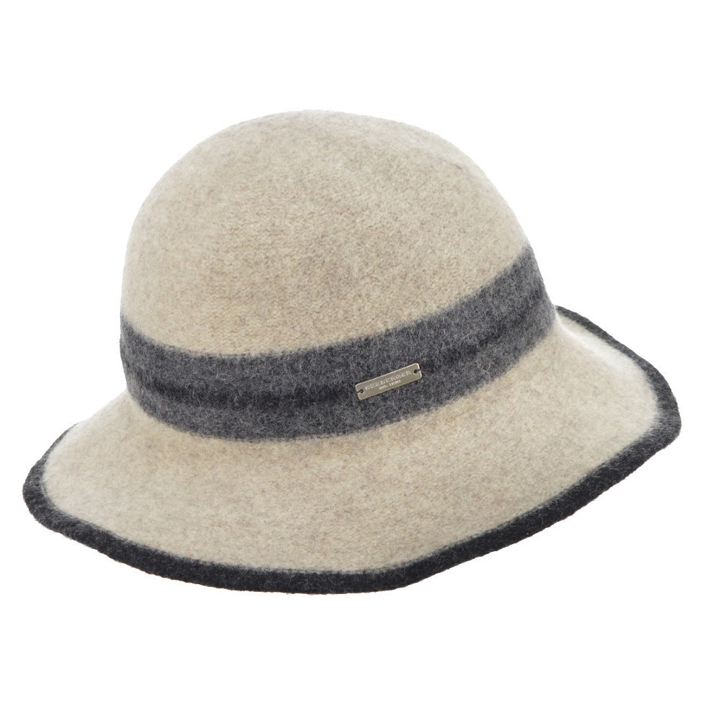 Seeberger W Uld Hat - SAND/ANTHRACITE