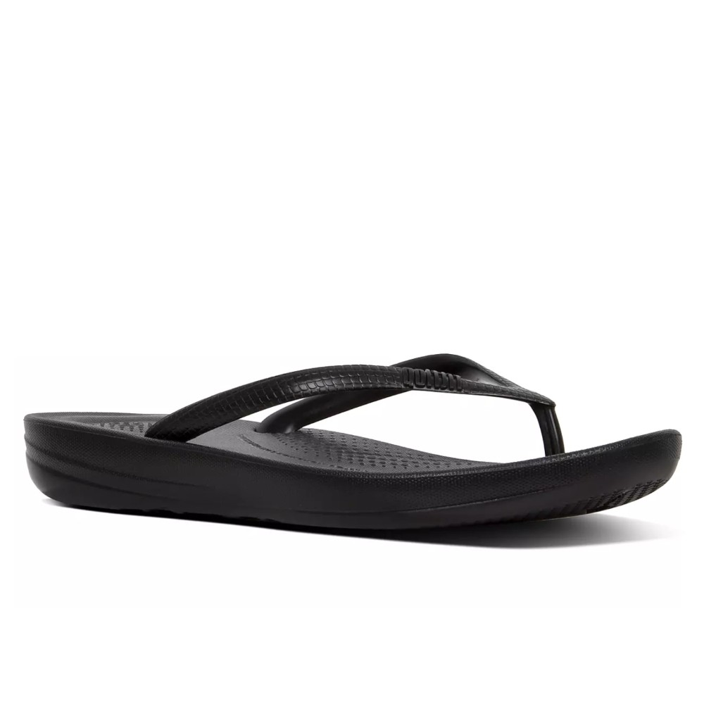 FitFlop W Iqushion Pearlised Sandal - BLACK
