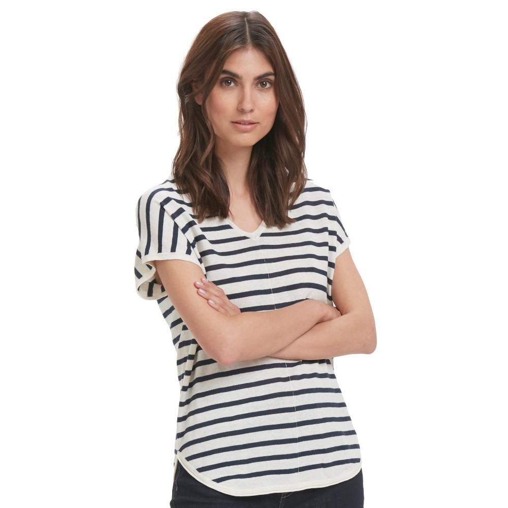 Part Two W Signe T-shirt - STRIPE DARK BLUE
