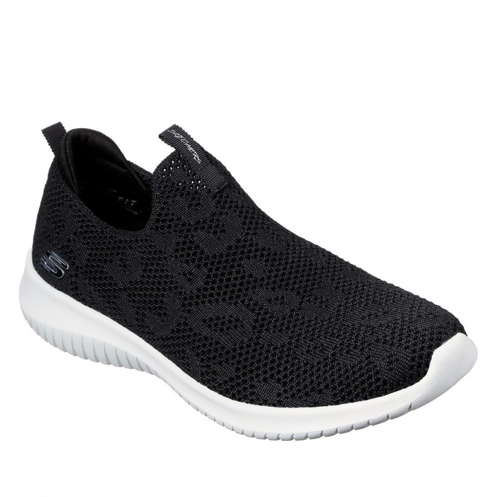 149009 Skechers W Slip-On Sneaker - BLACK_WHITE