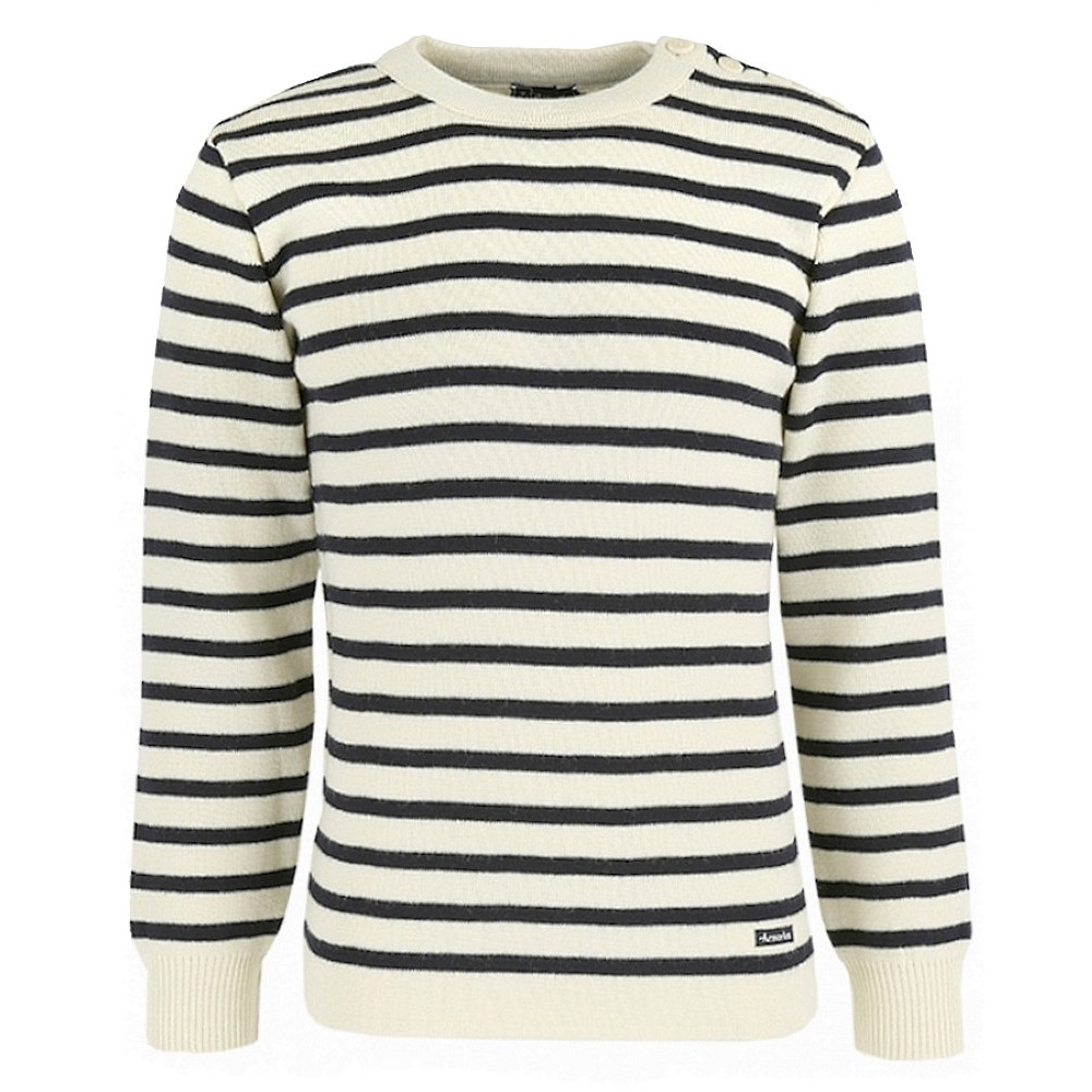 2915 Armor-Lux M Fouesnant Raye Sweater - RICH NAVY/NATURE