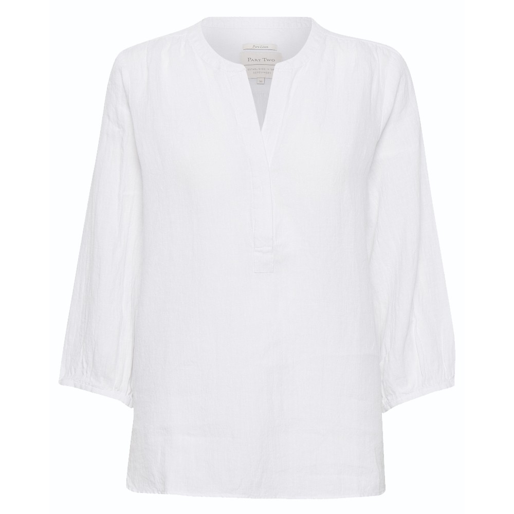 30304058 Part Two W Lydia Bluse - 33001 BRIGHT WHITE