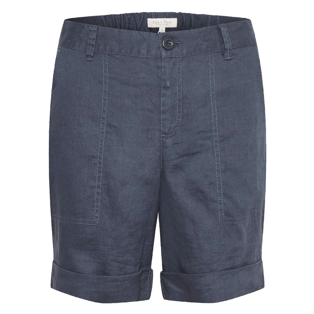 30305265 Part Two W Datine Shorts - BLUE-GRAPHITE