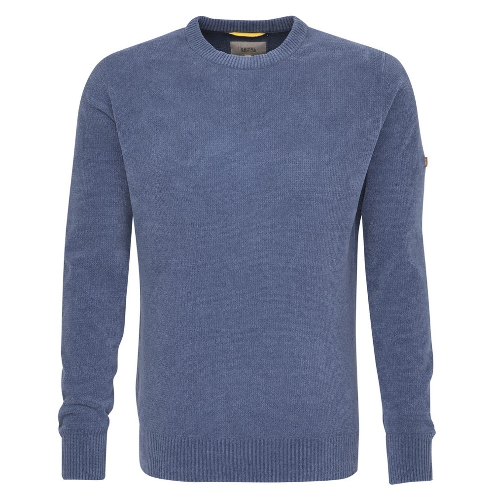 4-31.124102 Camel Active M Chenille Pullover - STEEL