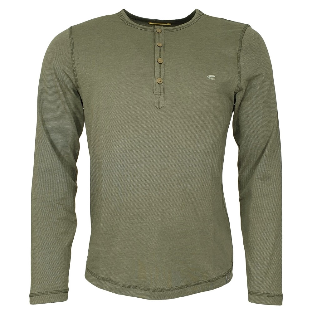 Camel Active M Henley T-shirt - LIGHT OLIVE