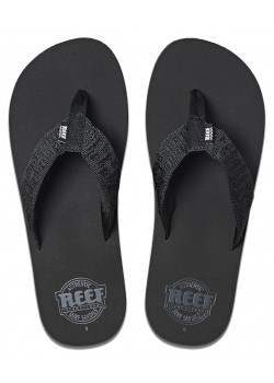 00313 Reef M Smoothy Sandal - BLACK