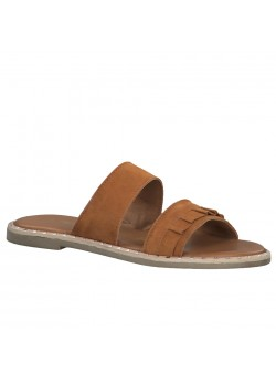 Tamaris W Low Leather Sandal - COGNAC