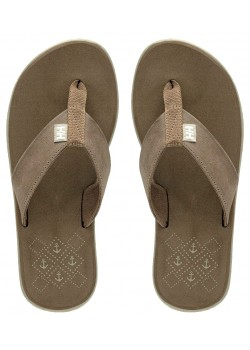 11496 Helly Hansen W Seasand Leather Sandal - 720 FOSSIL BROWN
