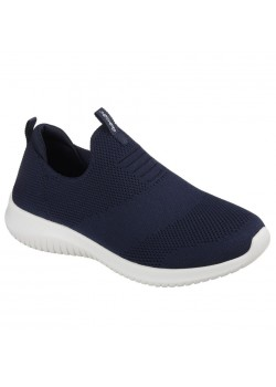 12837 Skechers W Ultra Flex First Take Sneaker - NAVY