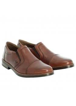 13572 Rieker M Læder Slip-On sko - BROWN