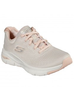149057 Skechers W Arch Fit Sunny Outlook Sneaker - NATURAL-CORAL