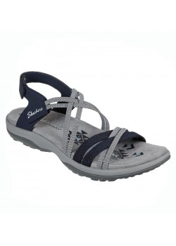 163112 Skechers W Reggae Slim Takes Two Sandal - NAVY