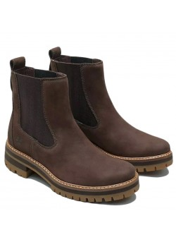 TB0A23WU Timberland W Courmayeur Valley Chelsea Støvle - DARK BROWN