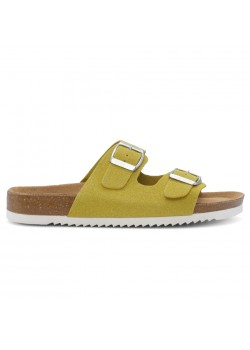 20349W Cph-Comfort W Bio Two Strap Sandal - YELLOW