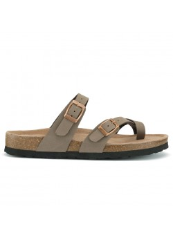 20350 Cph-Comfort W Bio Cross Over Sandal - TAUPE