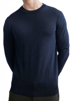 2166328637 NN07 M Ted Pullover - 200 NAVY