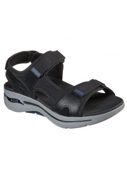 229021 Skechers M Go Walk Arch Fit Mission Sandal - BLACK-NAVY