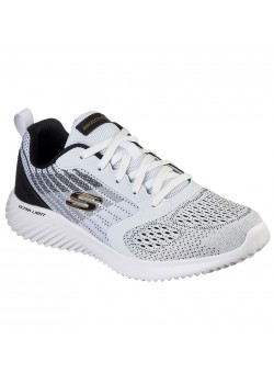 232004 Skechers M Bounder Verkona Sneaker - WHITE-BLACK