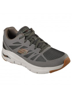 232042 Skechers M Arch Fit Charge Back Sneaker - OLIVE - 01