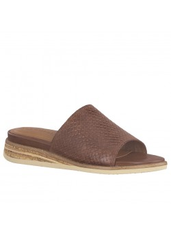 27237 Tamaris W Slip-On Mønstret Sandal - 387-CAFE-STRUCTURE