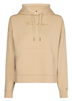29920Tommy Hilfiger W Relaxed Grossgrain Hoodie - CREPE
