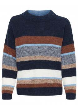 30305501 Part Two W Ebru Sweater - 300399 STRIPE BLUE