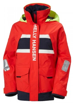 30344 Helly Hansen W Salt Coastal Sejlerjakke - 222-ALERT-RED