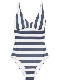 327 Esprit W North Beach Padded Badedragt - BLUE WHITE