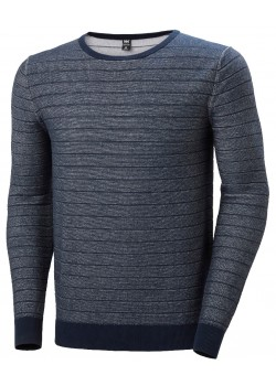 33910 Helly Hansen M Fjord Summer Knit - 597-NAVY-WHITE