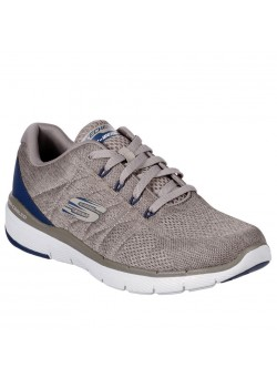 52957 Skechers M Flex Advantage 3.0 Stally Sneaker - TAUPE-BLUE
