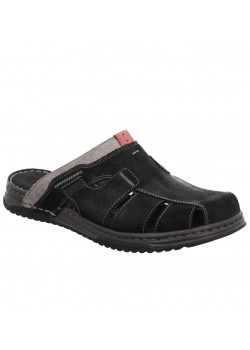 6090 Rohde M Slip-On Læder Sandal - BLACK