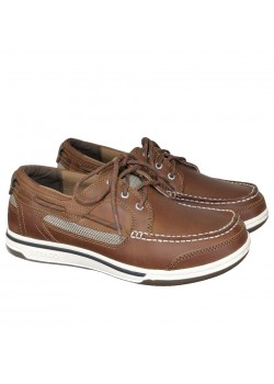70004ZO Sebago M Triton Three Eye Sejlersko - BROWN CINNAMON