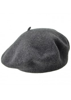 004329 Seeberger Beret Hat - ANTHRACITE