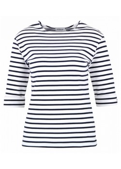 5409 Armor-Lux Cancale T-shirt - Blanc/Rich Navy