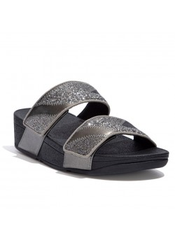 DN6 Fitflop W Mina Ombre Glitter Slides Sandal - 861-PEWTER-GREY