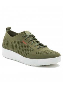 DR4-833 Fitflop W Rally Tonal Knit Sneaker - OLIVE-GREEN