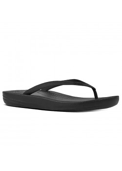 E54 FitFlop W Iqushion Ergonomic Sandal - ALL BLACK