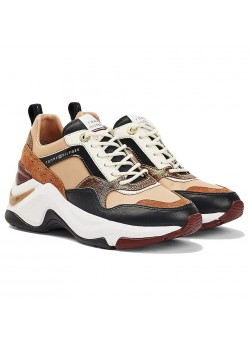 FWO5237 Tommy Hilfiger W Colourblock Wedge Sneaker - COPPER-CANYON