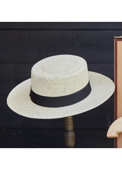 HOC-BOATER Hat of Cain W Boater Panamahat - STRAW