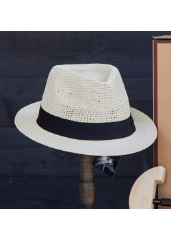 HOC-CARRY-ON Hat of Cain U Carry On Panamahat - STRAW