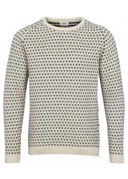 KC61 Klitmøller M Hugo Strik Sweater - CREAM/NAVY