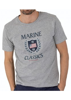 M2001 Marine Classics M Graphic T-shirt - LIGHT GREY MELANGE
