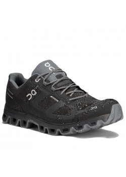 M 22 On-Running M Cloudventure Waterproof Sko - BLACK/GREY