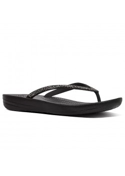 R08 FitFlop W Iqushion Sparkle Sandal - BLACK