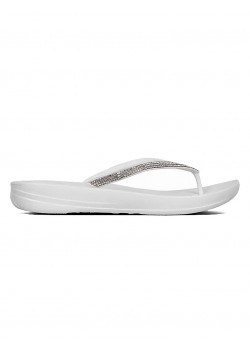 R08 FitFlop W Iqushion Sparkle Sandal - 194-URBAN-WHITE