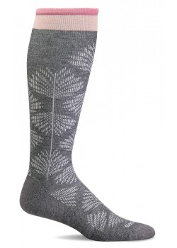 sw63w Sockwell W Full Floral Strømper - CHARCOAL