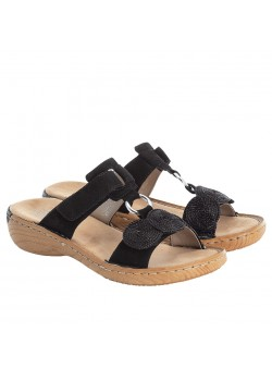 V27K3 Rieker W Ruskinds Slip-on Sandal - BLACK