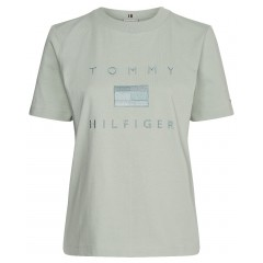 Tommy Hilfiger W Logo Embroidery Crew Neck T-shirt